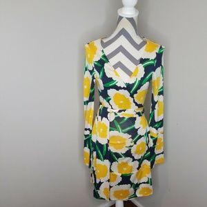 Diane Von Furstenburg Large Wildflower Wrap Dress
